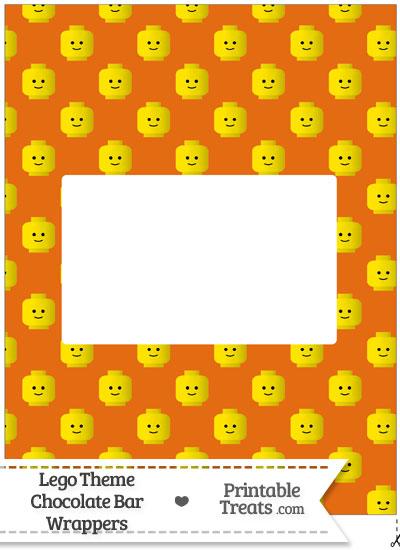 Orange Lego Theme Chocolate Bar Wrappers from PrintableTreats.com