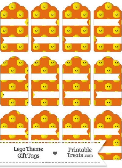 Orange Lego Theme Gift Tags from PrintableTreats.com