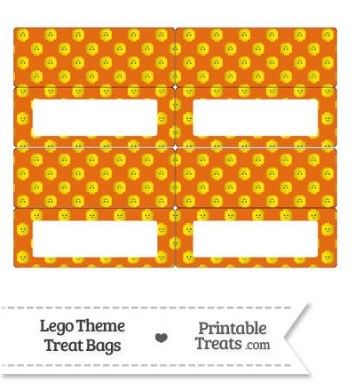 Orange Lego Theme Treat Bag Toppers from PrintableTreats.com