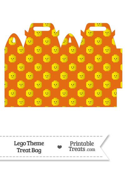 Orange Lego Theme Treat Bag from PrintableTreats.com