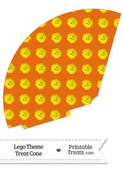 Orange Lego Theme Treat Cone from PrintableTreats.com