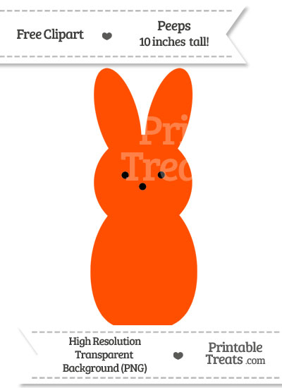 Orange Peeps Clipart from PrintableTreats.com