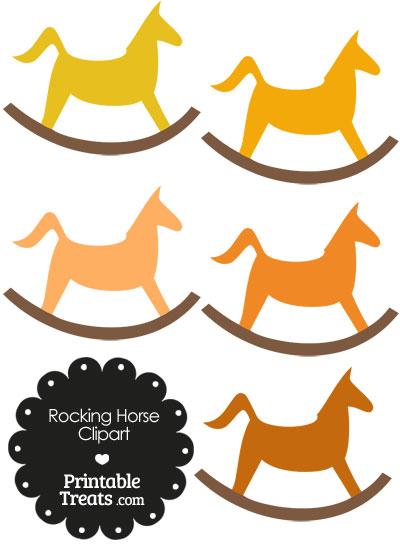 Orange Rocking Horse Clipart from PrintableTreats.com
