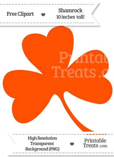 Orange Shamrock Clipart from PrintableTreats.com