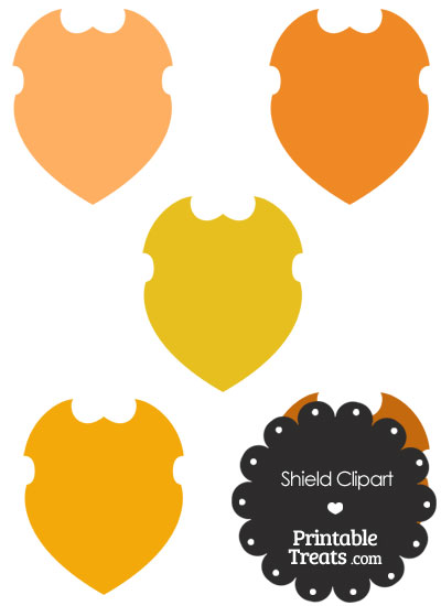 Orange Shield Clipart from PrintableTreats.com