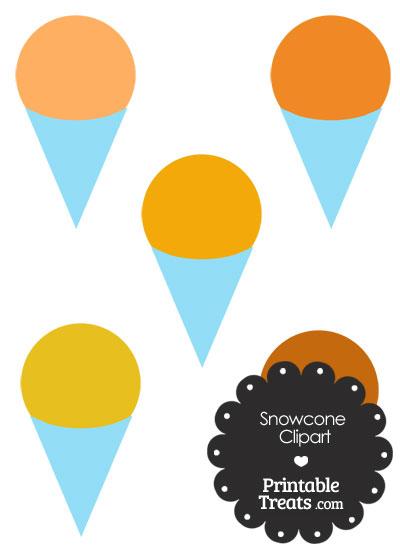 Orange Snow Cone Clipart from PrintableTreats.com