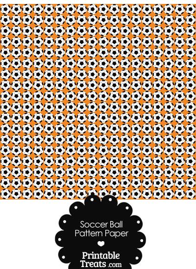 Orange Soccer Ball Pattern Digital Scrapbook Paper from PrintableTreats.com
