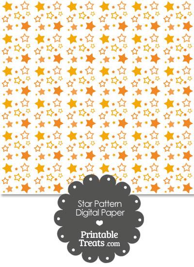 Orange Star Pattern Digital Scrapbook Paper from PrintableTreats.com