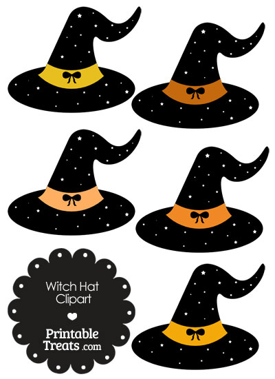 Orange Witch Hat Clipart from PrintableTreats.com