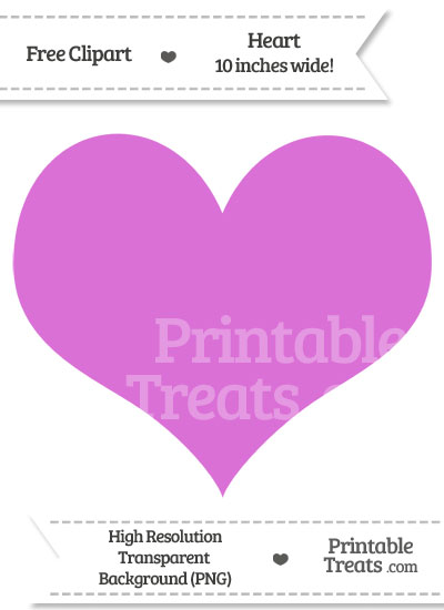 Orchid Heart Clipart from PrintableTreats.com