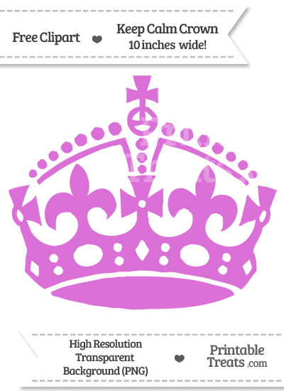 Orchid Keep Calm Crown Clipart from PrintableTreats.com