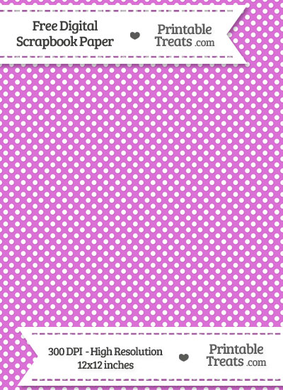 Orchid Raised Mini Polka Dots Digital Paper from PrintableTreats.com