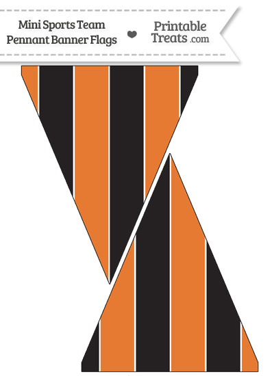 Orioles Colors Mini Pennant Banner Flags from PrintableTreats.com