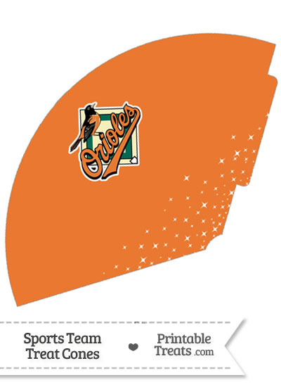 Orioles Treat Cone Printable from PrintableTreats.com