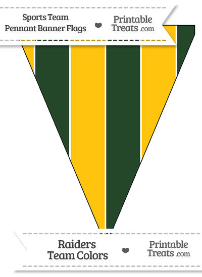 Packers Colors Pennant Banner Flag from PrintableTreats.com