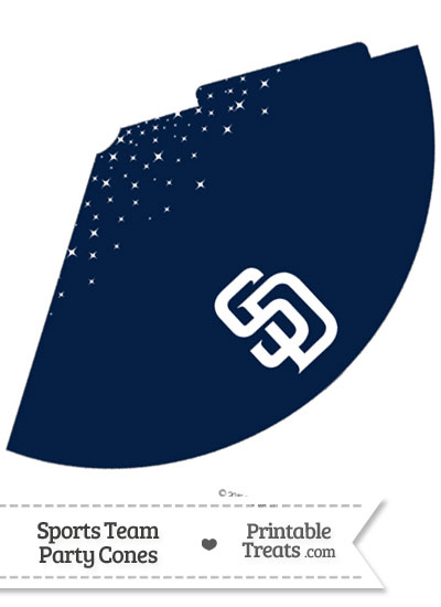 Padres Party Cone Printable from PrintableTreats.com