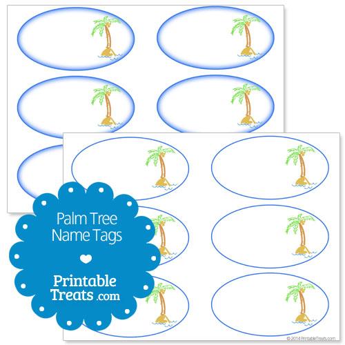 palm tree name tags