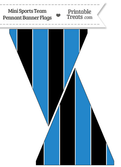 Panthers Colors Mini Pennant Banner Flags from PrintableTreats.com