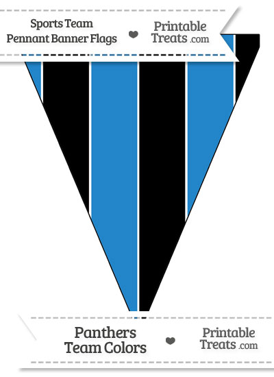 Panthers Colors Pennant Banner Flag from PrintableTreats.com