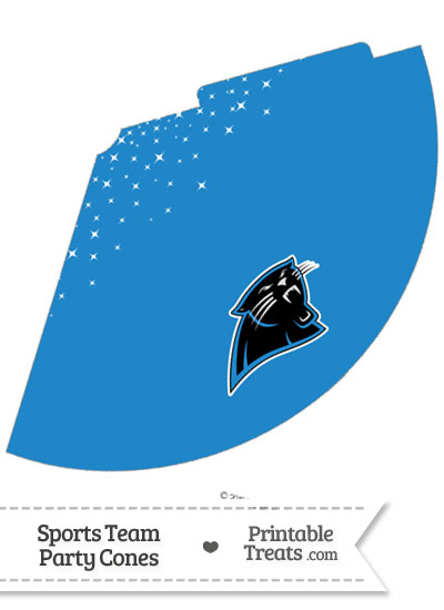 Panthers Party Cone Printable from PrintableTreats.com