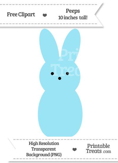 Pastel Aqua Blue Peeps Clipart from PrintableTreats.com