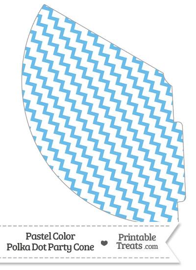 Pastel Blue Chevron Party Cone from PrintableTreats.com