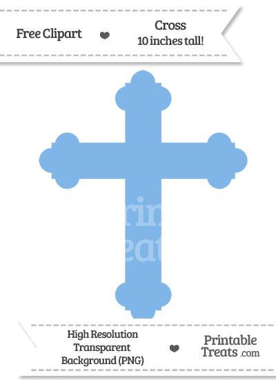 Pastel Blue Cross Clipart from PrintableTreats.com