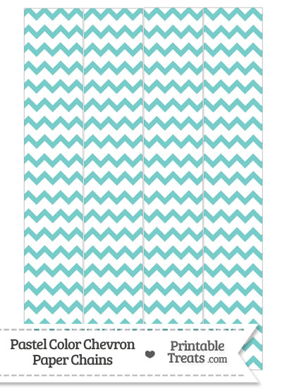 Pastel Blue Green Chevron Paper Chains from PrintableTreats.com
