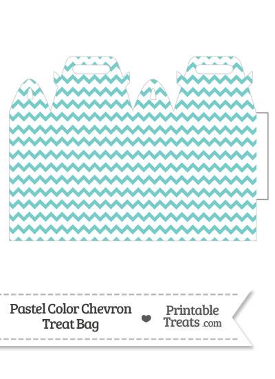 Pastel Blue Green Chevron Treat Bag from PrintableTreats.com