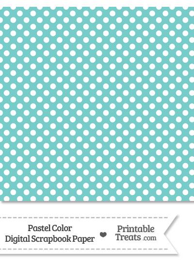Pastel Blue Green Polka Dot Digital Scrapbook Paper from PrintableTreats.com