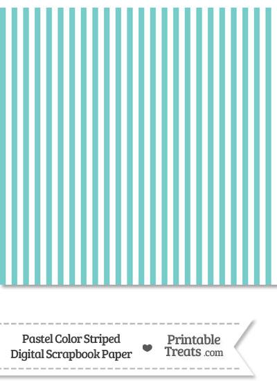 Pastel Blue Green Striped Digital Scrapbook Paper from PrintableTreats.com
