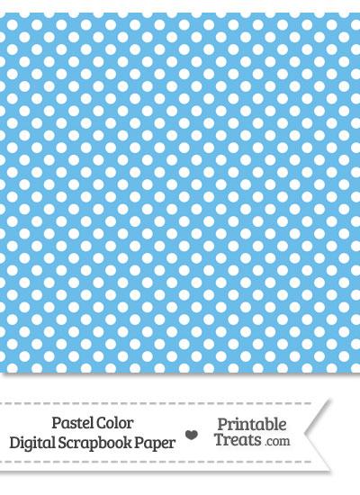 Pastel Blue Polka Dot Digital Scrapbook Paper from PrintableTreats.com