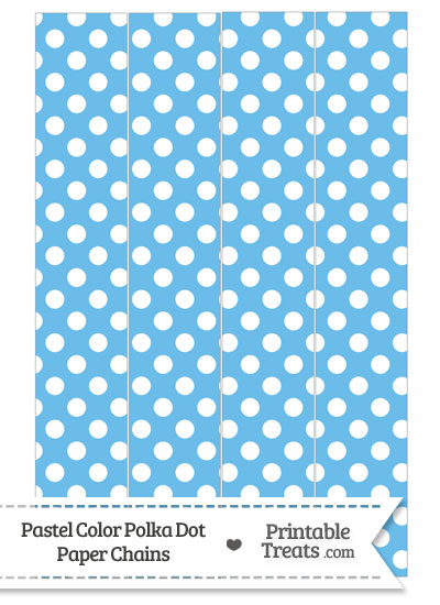 Pastel Blue Polka Dot Paper Chains from PrintableTreats.com