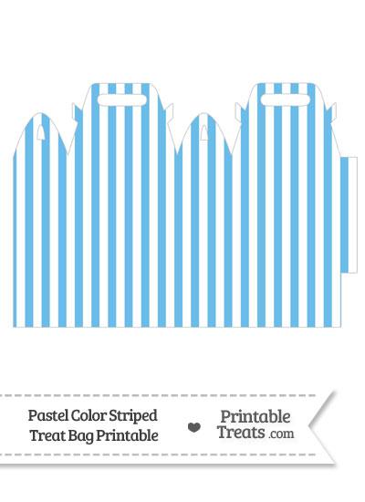 Pastel Blue Striped Treat Bag from PrintableTreats.com