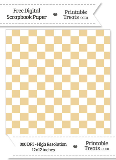 Pastel Bright Orange Checkered Pattern Digital Paper from PrintableTreats.com