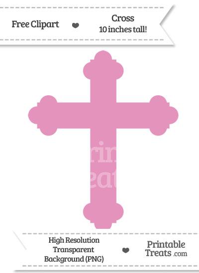 Pastel Bubblegum Pink Cross Clipart from PrintableTreats.com