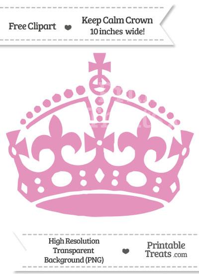 Pastel Bubblegum Pink Keep Calm Crown Clipart from PrintableTreats.com