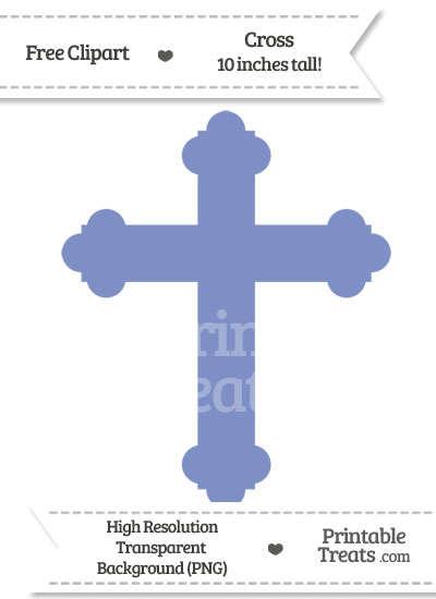 Pastel Dark Blue Cross Clipart from PrintableTreats.com