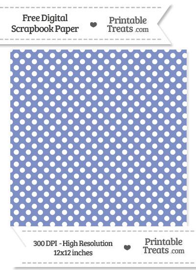 Pastel Dark Blue Polka Dot Digital Paper from PrintableTreats.com