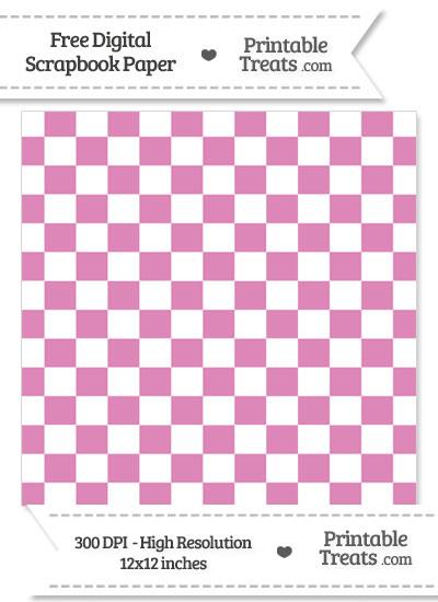 Pastel Fuchsia Checkered Pattern Digital Paper from PrintableTreats.com