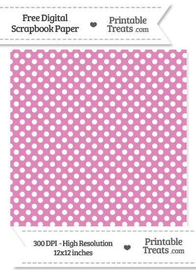 Pastel Fuchsia Polka Dot Digital Paper from PrintableTreats.com