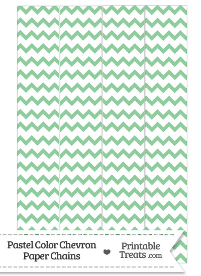 Pastel Green Chevron Paper Chains from PrintableTreats.com