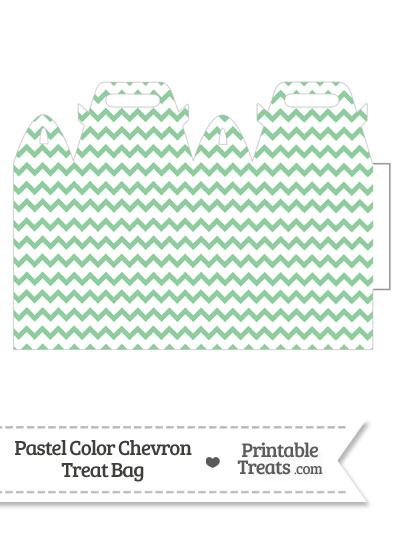 Pastel Green Chevron Treat Bag from PrintableTreats.com
