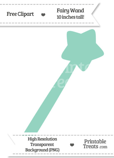 Pastel Green Fairy Wand Clipart from PrintableTreats.com