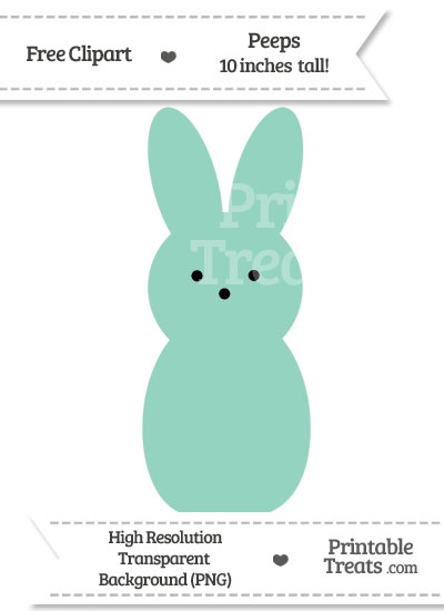 Pastel Green Peeps Clipart from PrintableTreats.com