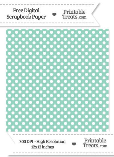Pastel Green Polka Dot Digital Paper from PrintableTreats.com