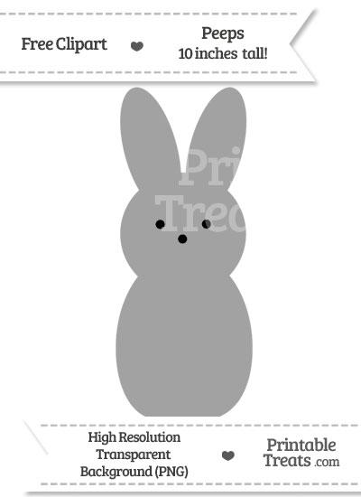 Pastel Grey Peeps Clipart from PrintableTreats.com