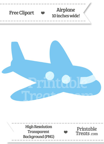 Pastel Light Blue Airplane Clipart from PrintableTreats.com