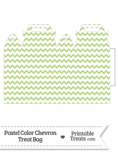 Pastel Light Green Chevron Treat Bag from PrintableTreats.com