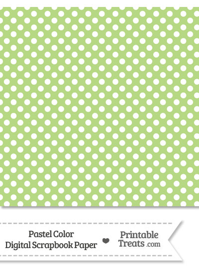 Pastel Light Green Polka Dot Digital Scrapbook Paper from PrintableTreats.com